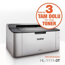 Brother - Brother HL-1111 Mono Laser Yazıcı 3 Tam Toner Hediyeli