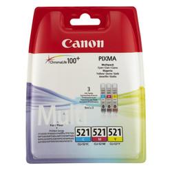 Canon - Canon CLI-521/2934B010 Renkli Orjinal Kartuş Avantaj Paketi