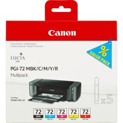 Canon - Canon PGI-72MBK/PGI-72C/PGI-72M/PGI-72Y/PGI-72R Orjinal Kartuş Paketi