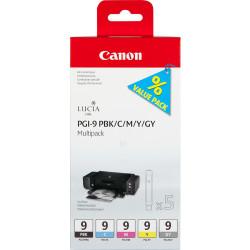 Canon - Canon PGI-9/1034B013 PBK/C/M/Y/GY Orjinal Kartuş Avantaj Paketi
