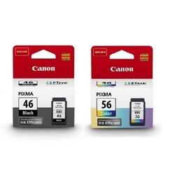 Canon - Canon Pıxma E484 PG-46 Siyah CL-56 Renkli Yazıcı Mürekkep Kartuş Seti