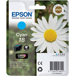 Epson - Epson 18-T1802-C13T18024020 Mavi Orjinal Kartuş