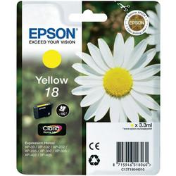 Epson - Epson 18-T1804-C13T18044020 Sarı Orjinal Kartuş
