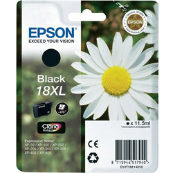 Epson - Epson 18XL-T1811-C13T18114020 Siyah Orjinal Kartuş