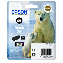 Epson - Epson 26-T2611-C13T26114020 Foto Siyah Orjinal Kartuş