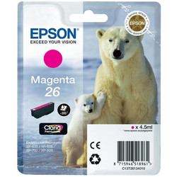 Epson - Epson 26-T2613-C13T26134020 Kırmızı Orjinal Kartuş