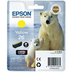 Epson - Epson 26-T2614-C13T26144020 Sarı Orjinal Kartuş