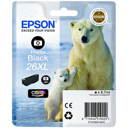 Epson - Epson 26XL-T2631-C13T26314020 Foto Siyah Orjinal Kartuş