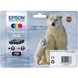 Epson - Epson 26XL-T2636-C13T26364020 Orjinal Kartuş Ekonomik Seti