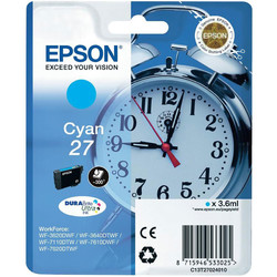 Epson - Epson 27-T2702-C13T27024020 Mavi Orjinal Kartuş