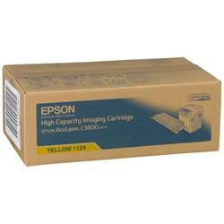 Epson - Epson C3800-C13S051124 Sarı Orjinal Toner Yüksek Kapasiteli
