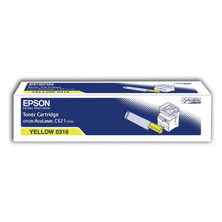 Epson CX-21/C13S050316 Sarı Orjinal Toner
