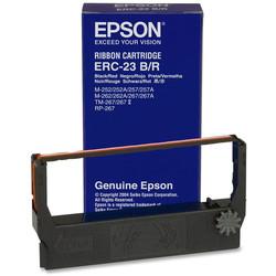 Epson - Epson ERC-23/C43S015362 Orjinal Kırmızı-Siyah Şerit