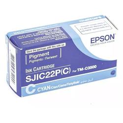 Epson - Epson SJIC22-C33S020602 Mavi Orjinal Kartuş