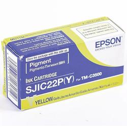 Epson - Epson SJIC22-C33S020604 Sarı Orjinal Kartuş