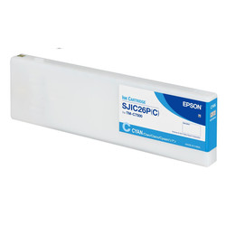 Epson - Epson SJIC26-C33S020619 Mavi Orjinal Kartuş