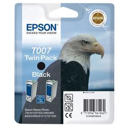 Epson - Epson T007-C13T00740220 Siyah Orjinal Kartuş 2Li Paketi