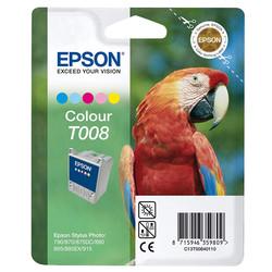 Epson - Epson T008-C13T00840120 Renkli Orjinal Kartuş