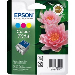 Epson - Epson T014-C13T01440120 Renkli Orjinal Kartuş