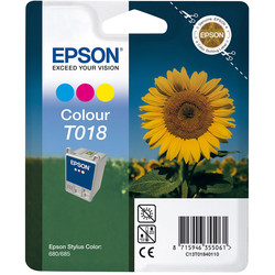 Epson - Epson T018-C13T01840120 Renkli Orjinal Kartuş