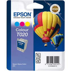 Epson - Epson T020-C13T02040120 Renkli Orjinal Kartuş
