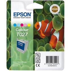 Epson - Epson T027-C13T02740120 Renkli Orjinal Kartuş