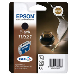 Epson - Epson T0321-C13T03214020 Siyah Orjinal Kartuş