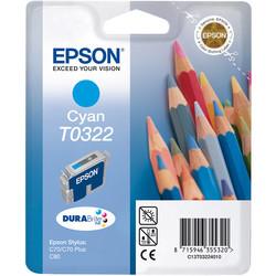 Epson - Epson T0322-C13T03224020 Mavi Orjinal Kartuş