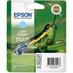 Epson - Epson T0335-C13T03354020 Açık Mavi Orjinal Kartuş