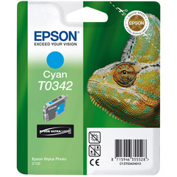 Epson - Epson T0342-C13T03424020 Mavi Orjinal Kartuş