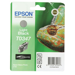 Epson - Epson T0347-C13T03474020 Açık Siyah Orjinal Kartuş