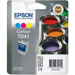 Epson - Epson T041-C13T04104020 Renkli Orjinal Kartuş