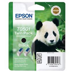 Epson - Epson T0501-C13T05014220 Siyah Orjinal Kartuş 2Li Paketi