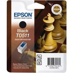 Epson - Epson T0511-C13T05114020 Siyah Orjinal Kartuş