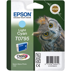 Epson - Epson T0795-C13T07954020 Açık Mavi Orjinal Kartuş