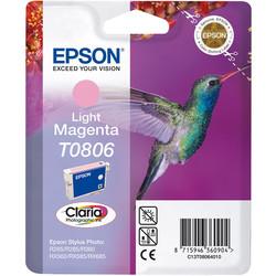 Epson - Epson T0806-C13T08064020 Açık Kırmızı Orjinal Kartuş