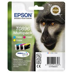 Epson - Epson T0896-C13T08964020 Renkli Orjinal Kartuş Avantaj Paketi