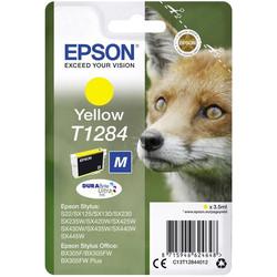 Epson - Epson T1284-C13T12844020 Sarı Orjinal Kartuş
