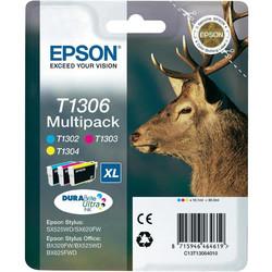 Epson - Epson T1306-C13T13064020 Orjinal Kartuş Renkli Paketi