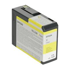 Epson - Epson T5804-C13T580400 Sarı Orjinal Kartuş