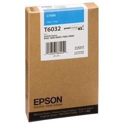 Epson - Epson T6032-C13T603200 Mavi Orjinal Kartuş