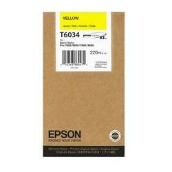Epson - Epson T6034-C13T603400 Sarı Orjinal Kartuş