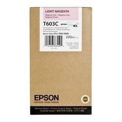 Epson - Epson T603C-C13T603C00 Açık Kırmızı Orjinal Kartuş