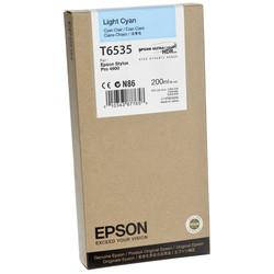 Epson - Epson T6535-C13T653500 Açık Mavi Orjinal Kartuş