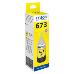 Epson - Epson T6734-C13T67344A Sarı Orjinal Mürekkep