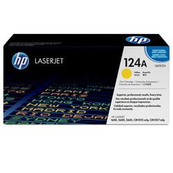 HP - Hp 124A-Q6002A Sarı Orjinal Toner