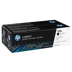 HP - Hp 128A-CE320AD Siyah Orjinal Toner İkili Paket