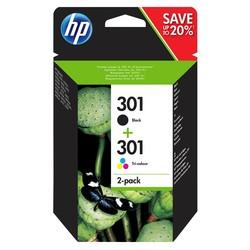 HP - Hp 301-N9J72AE Orjinal Siyah Ve Renkli Kartuş 2Li Paket