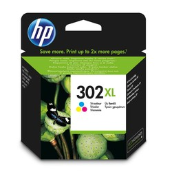 HP - Hp 302XL-F6U67AE Renkli Orjinal Kartuş Yüksek Kapasiteli