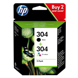 HP - Hp 304 -3JB05AE Siyah ve Renkli Orjinal Mürekkep Kartuş Seti